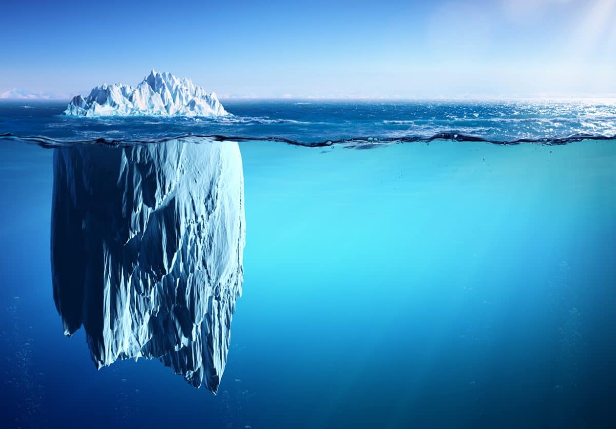 Iceberg Appearance vs Reality